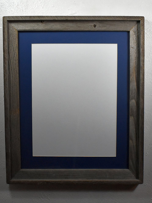 12x16 matted recycled wood portrait frame