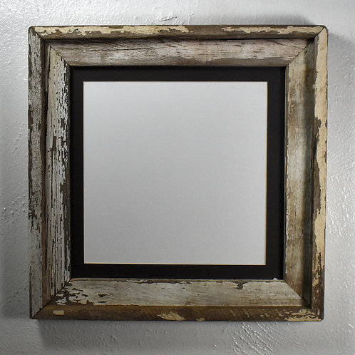 10x10 matted shabby chic wood picture frame