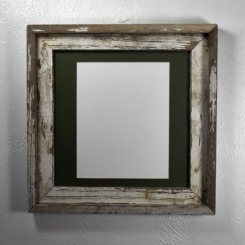 8x10 matted shabby chic wood picture frame