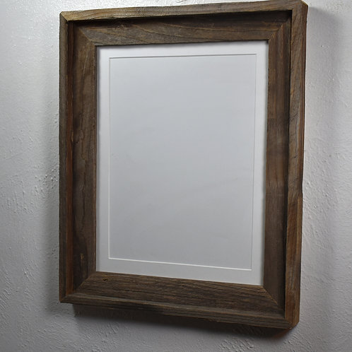 9x12 matted rustic wood picture frame