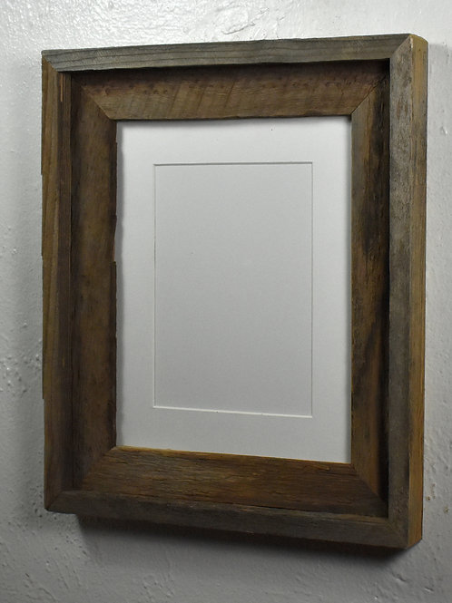 5x7 matted reclaimed wood picture frame