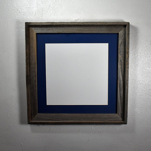 12x12 matted rustic woood picture frame