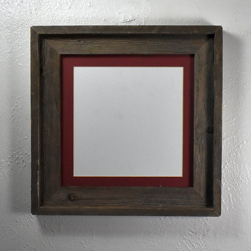 8x8 mat in 10x10 recycled wood picture frame