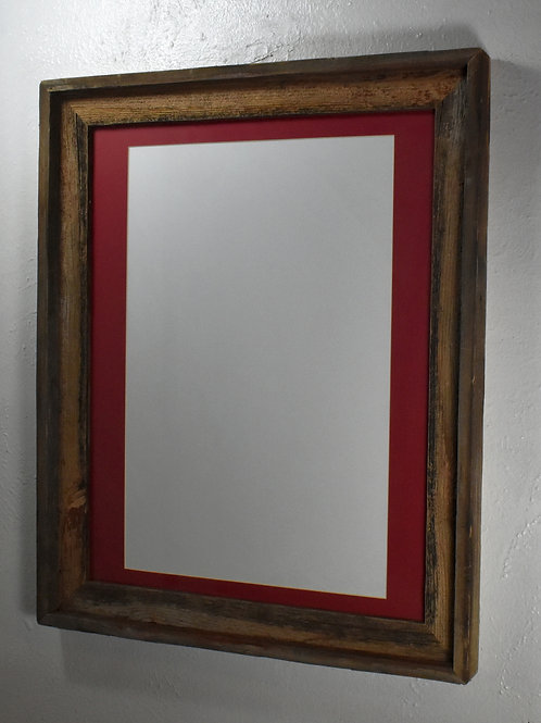 12x18 matted recycled wood poster frame