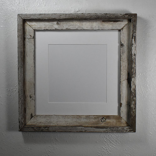 8x8 matted shabby chic wood picture frame