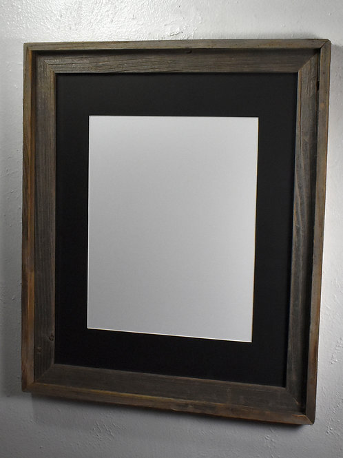 11x14 matted repurposed wood portrait frame