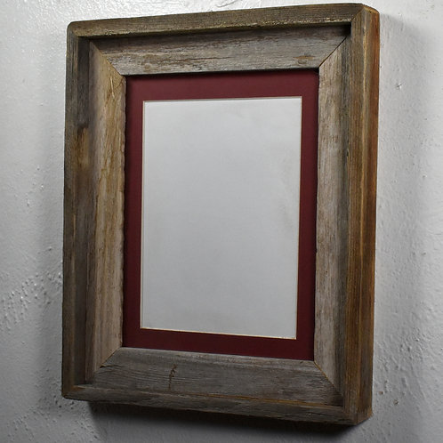 8x6 matted rustic wood picture frame