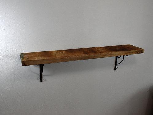Reclaimed rustic wood wall shelf 44x8