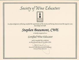 Certified Wine Educator