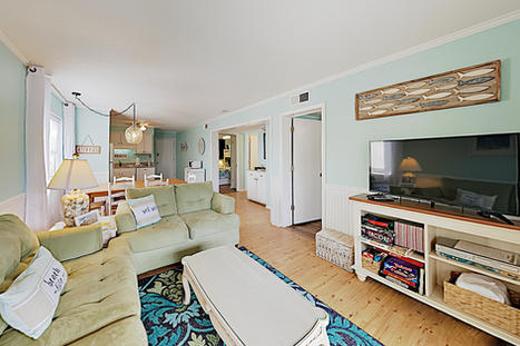 Open Concept Living Room in Vacation Rental