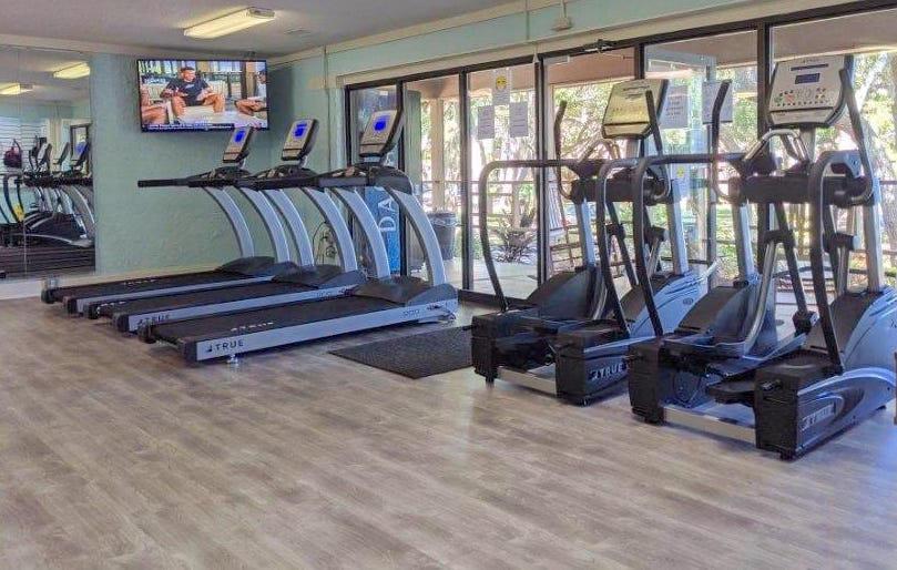 fitness center at hilton head beach and tennis resort
