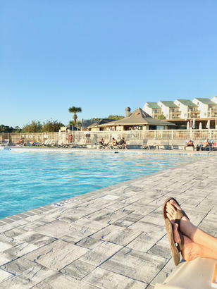 Relax at the Huge Pool