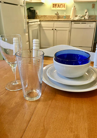 Dishes for Family Meals in Vacation Rental