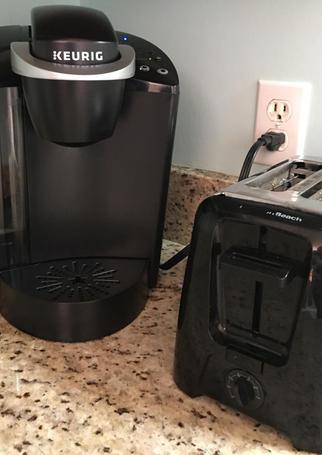 Keurig and Toaster