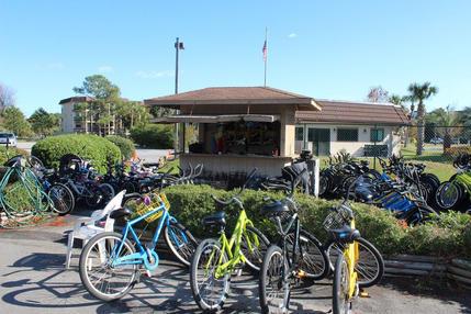 Bike rental kiosk Hilton Head