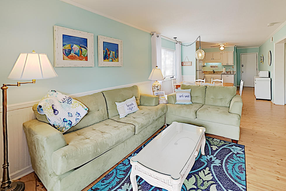 Open Concept Family Room in Vacation Rental
