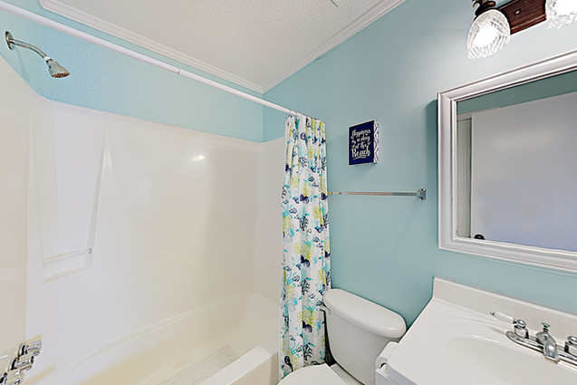 Guest Bath with Tub Shower Combo