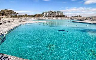 Huge Oceanfront Pool at Hilton Head Beach and Tennis Resort