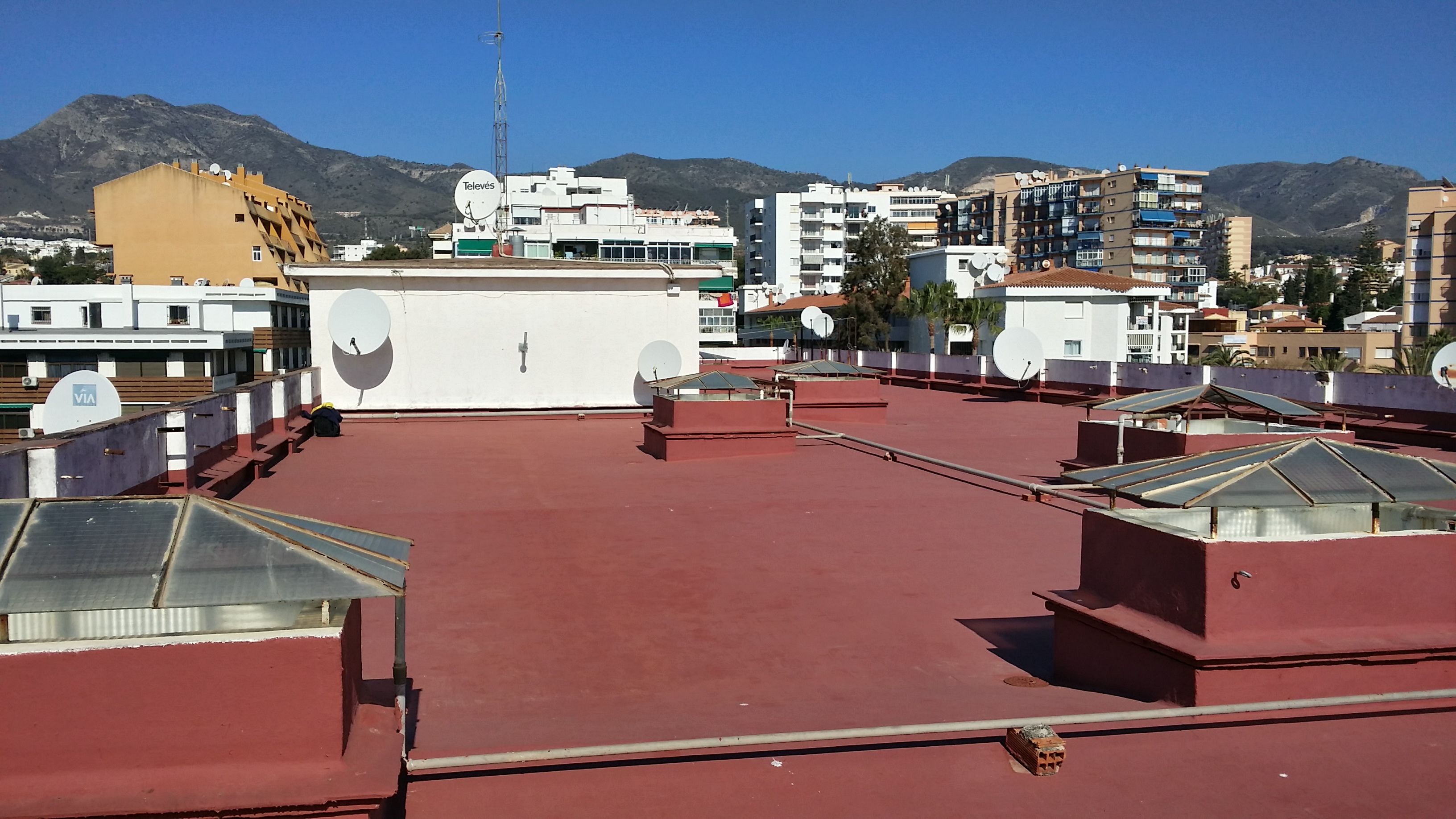 We train at the rooftop.