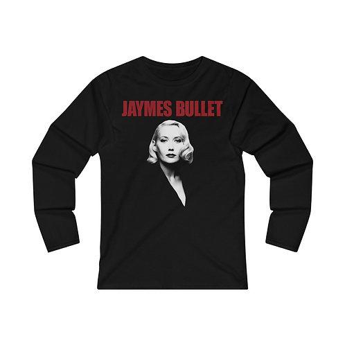 JAYMES BULLET Portrait, Fitted Long Sleeve Women's Tee