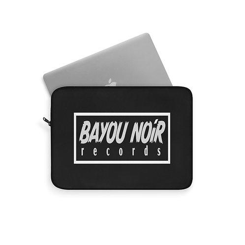 BAYOU NOIR RECORDS Official Logo Laptop Sleeve