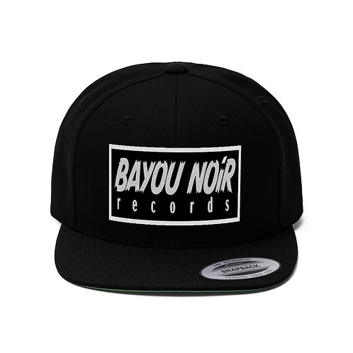 BAYOU NOIR RECORDS Official Embroidered Logo Snapback Hat