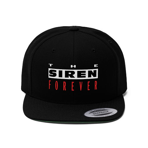 THE SIREN FOREVER Embroidered Logo Snapback Hat