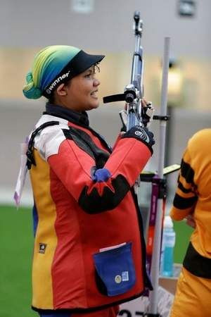 Nur Suryani Mohamed Taibi Olympic shooter at the 2012 Olympics