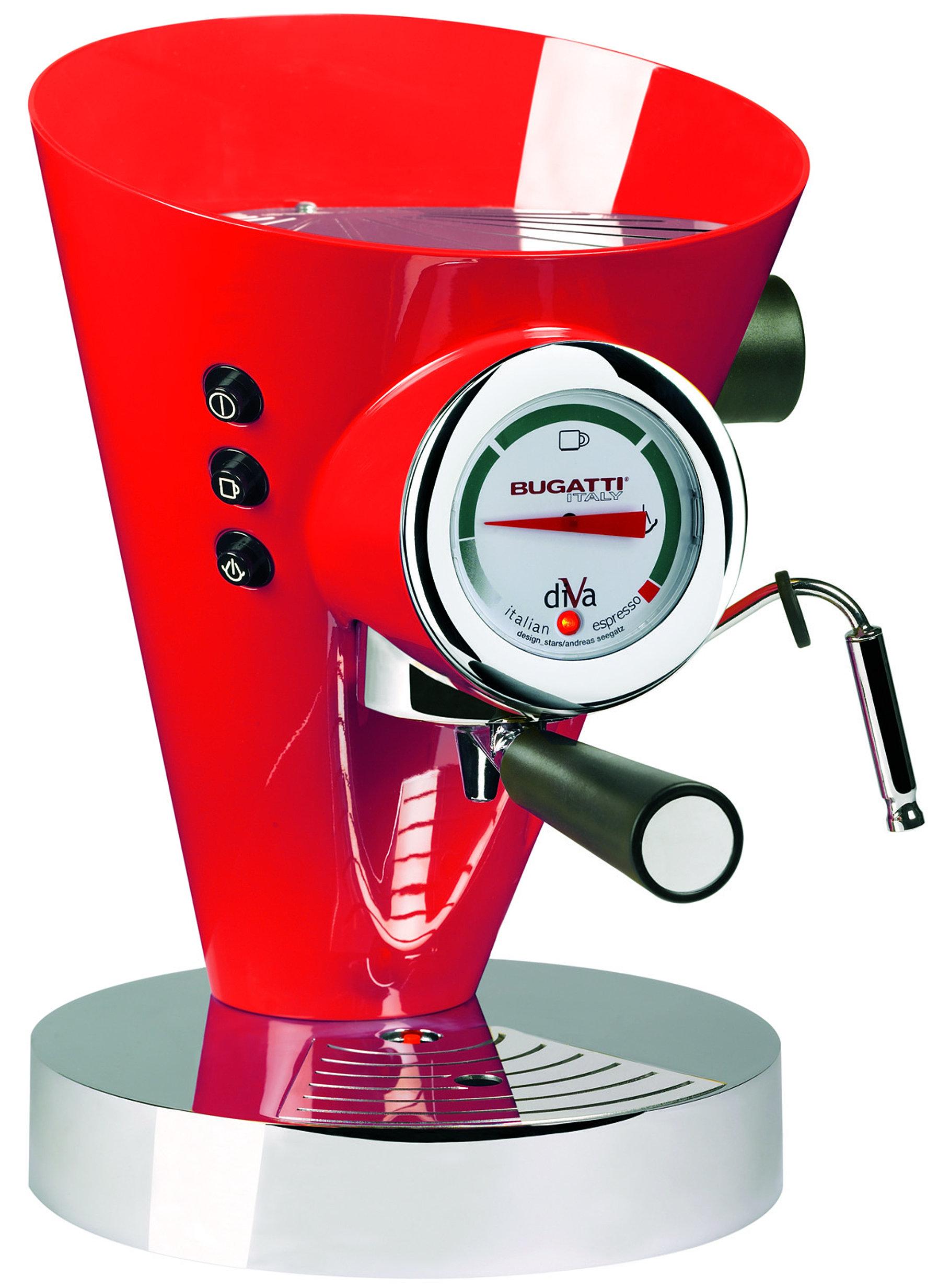 Bugatti Appliances. B15 DIVAC3N DIVA COFFEE MACHINE RED
