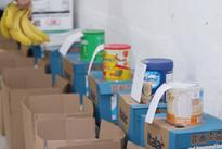 Caixas com doações
