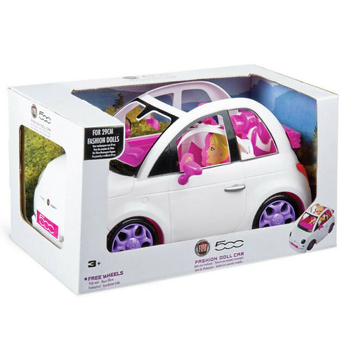 Fiat 500 fashion doll car