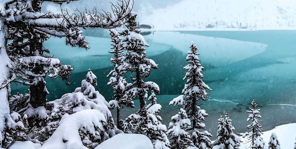 Frozen Joffre Lakes