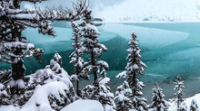Joffre Lakes is a magical paradise to go snowshoeing in winter