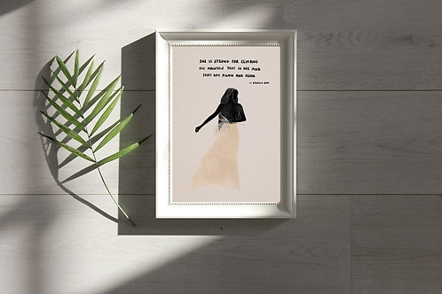 'She Is Brave' Print