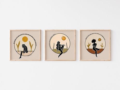 'Three Steps'-  3 Prints