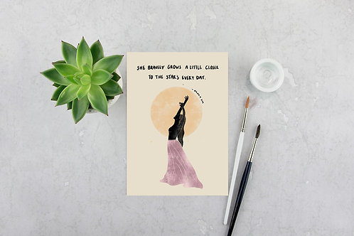 'She Bravely Grows' Print