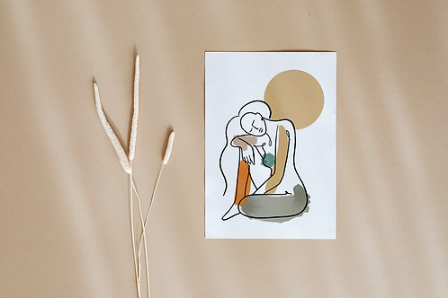 'Talking To The Moon' Print