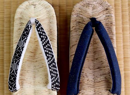 生成りと漂白された竹皮
