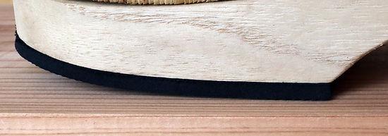 横から見た通常のゴムソール