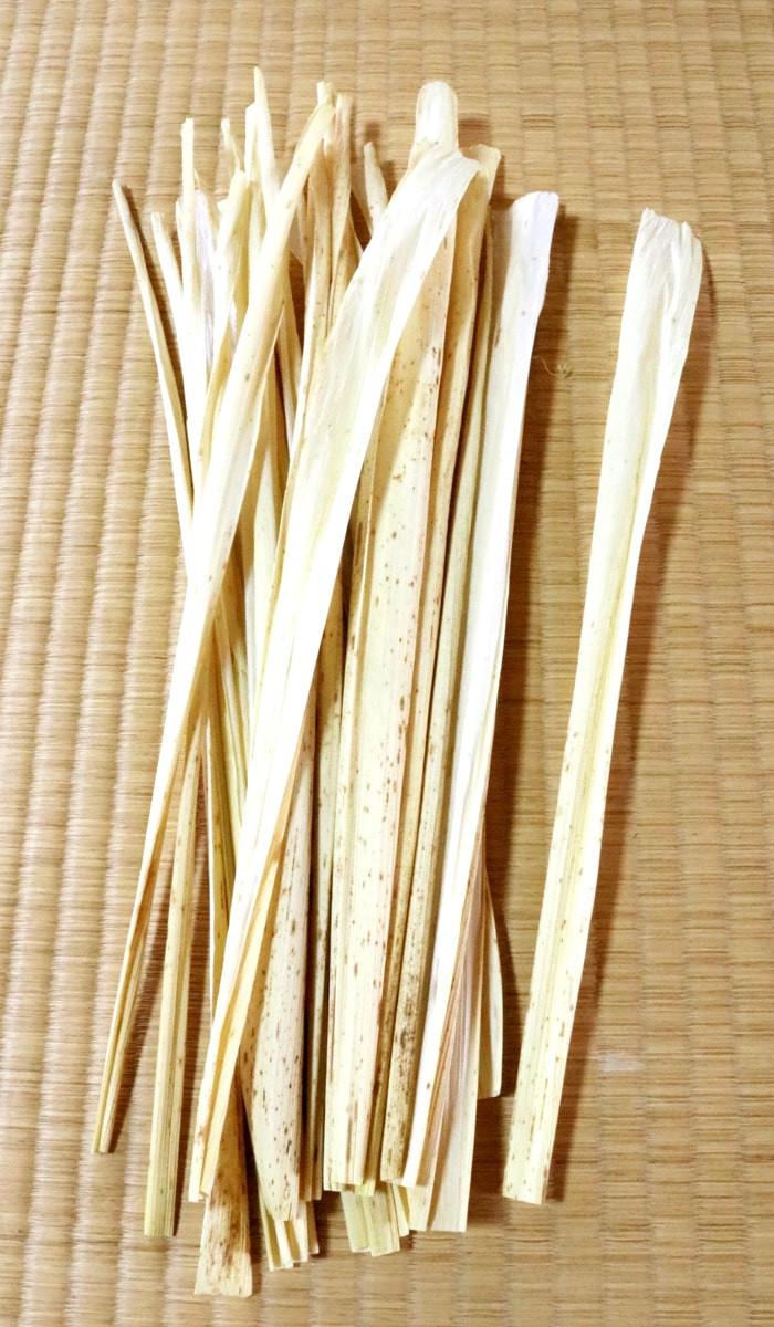 天然の竹皮