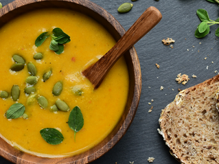 Roasted Butternut Squash and Pepper Soup