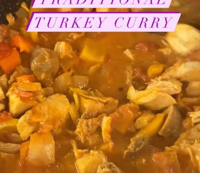 Easiest Leftover Turkey Curry