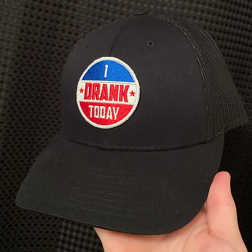 I DRANK TODAY Black Mesh Snap Back Hat