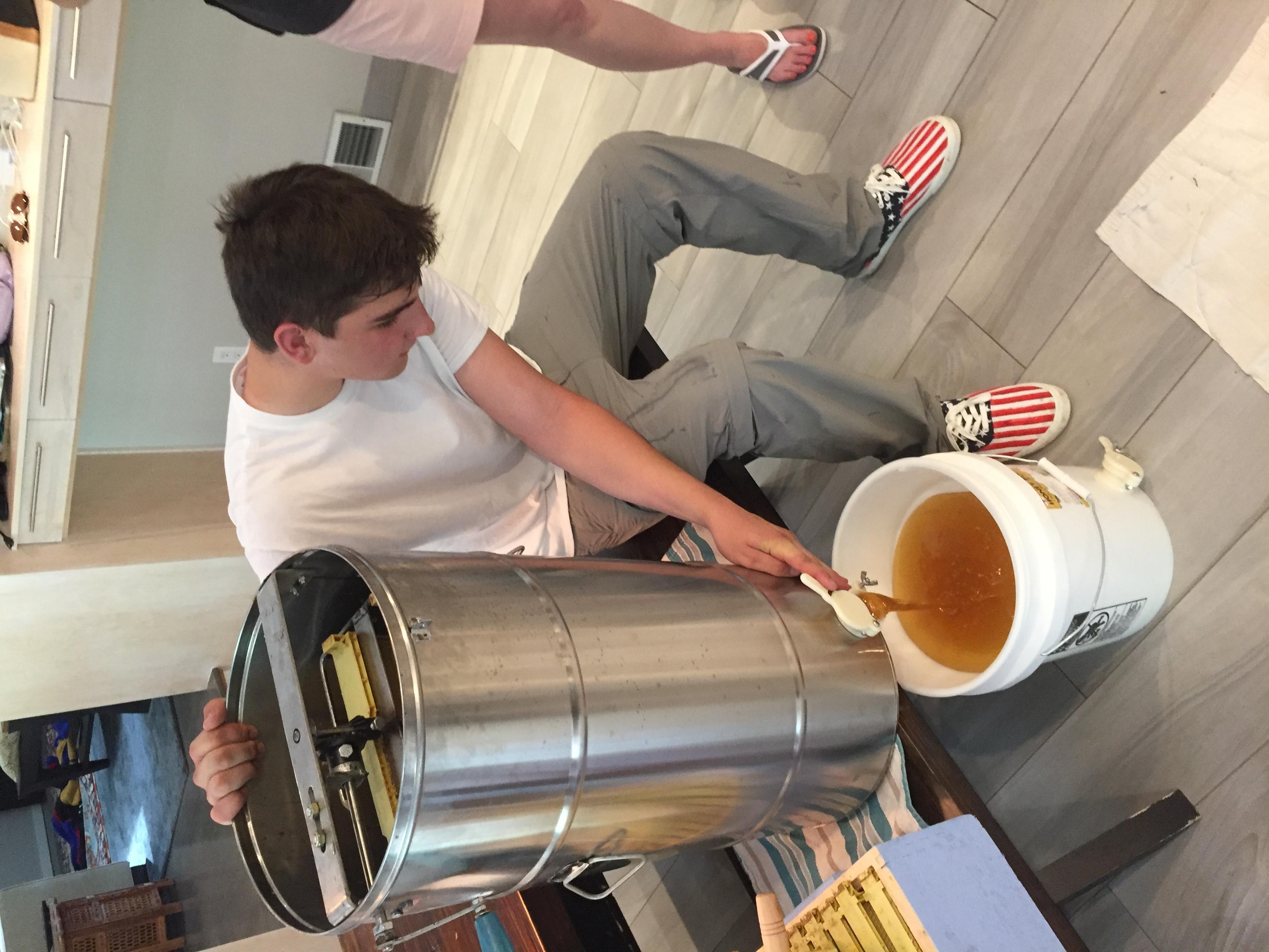 Filtering the honey