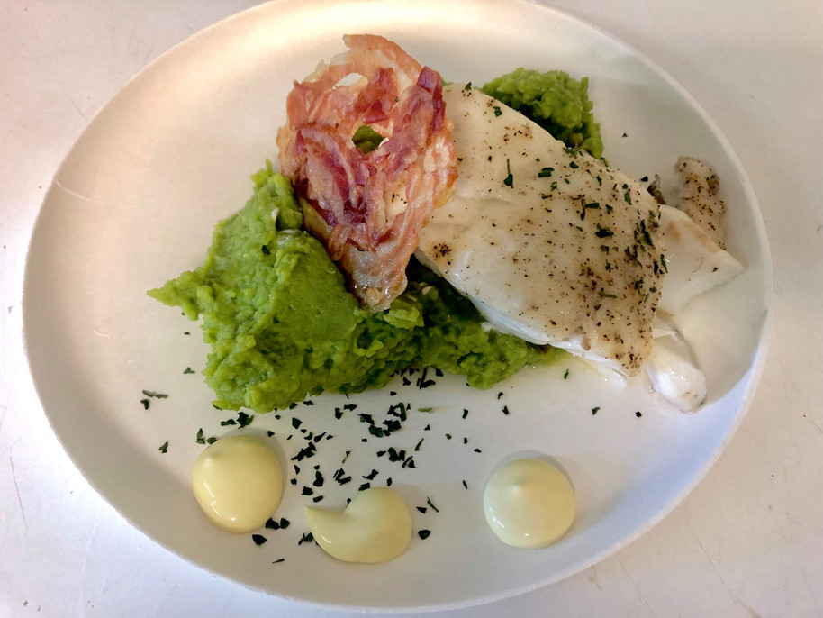 codfish and pancetta
