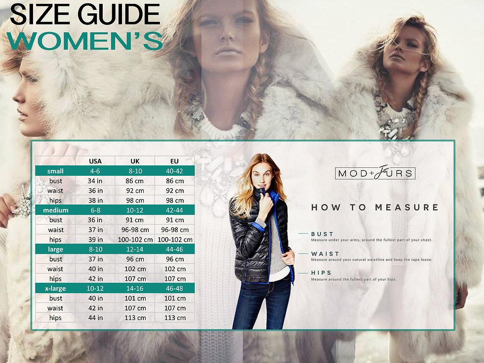 MOD+FURS Size Guide