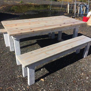 Custom Table + Benches