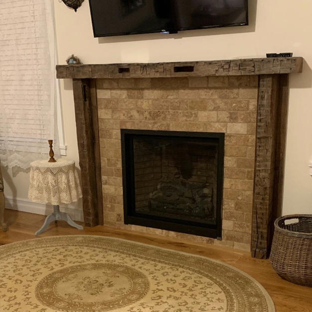 Reclaimed Fireplace Mantle