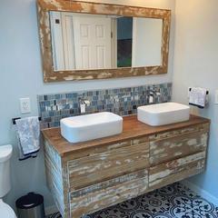 Bath Vanity + Mirror