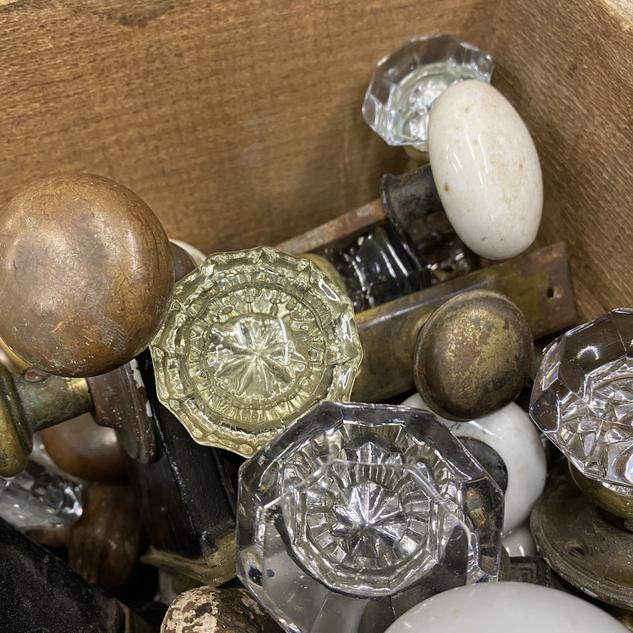 Salvaged Antique Door Knobs